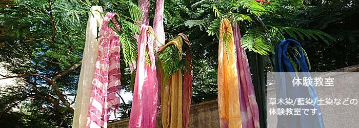 体験教室 草木染め、藍染めなどの体験教室 沖縄今帰仁村